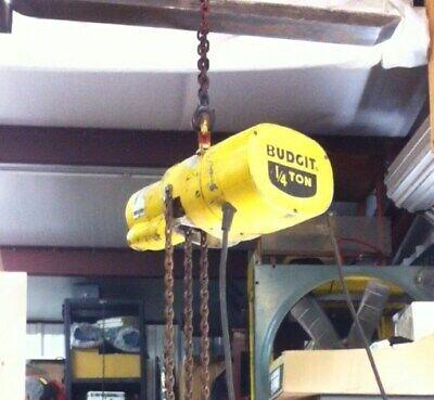 Budgit 14 Ton 500lbs. Electric Chain Hoist 115v Single Phase