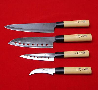 Chef Knives set 4pcs Cutlery Knife Japanese Home Kitchen Sashimi Fruit Bone Bar