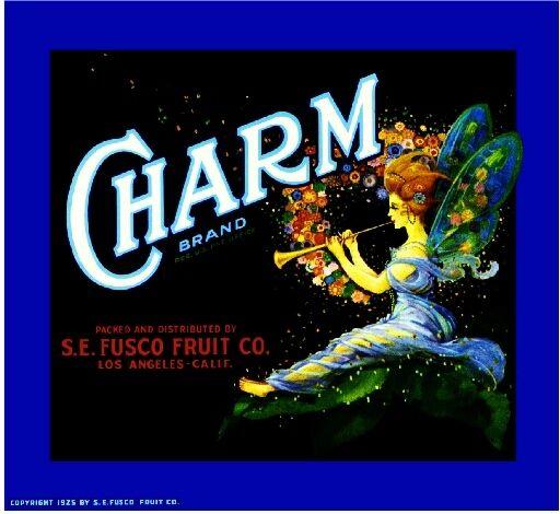 Los Angeles Charm Fairy Orange Citrus Fruit Crate Label Art Print