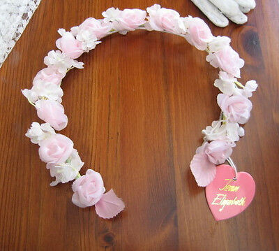 BRIDESMAIDS / FLOWER GIRL PINK & WHITE HEADDRESS DESIGNED BY JEAN ELIZABETH