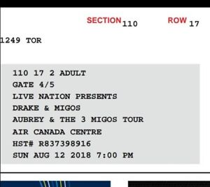 Drake and migos concert ticket