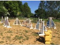 Showjumps for sale - sturdy, good condition wings, some NEW