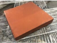 VICTORIAN RESTORATION 9X9 INCH RED QUARRY TILES - LARGE STOCK.
