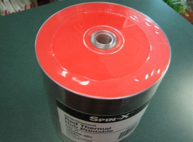200 PRODISC SPIN-X CD CD-R RED THERMAL HUB PRINTABLE