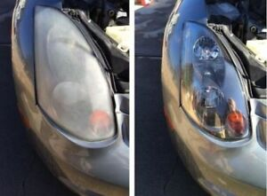 MOBILE HEADLIGHT RESTORATION $49.95 WE COME TO YOU
