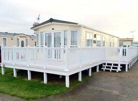 Cheap static caravan £15k decking, essex, fishing lake, beach access, dog friendly, new development