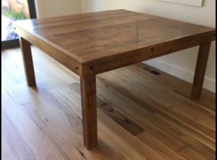 Reclaimed/recycled hardwood square timber table