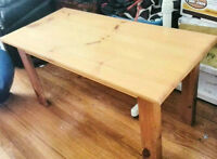 100% SOLID wood Coffee table AND tv birch colour