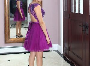 Sherri Hill style 21167 short prom dress: perfect condition