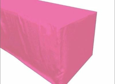 5 Ft. Fitted Polyester Table Cover Tablecloth Trade Show Booth Event Party Pink