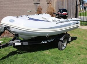 Dinghy boat, motor and trailer