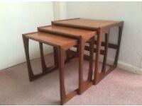 G-Plan Quadrille nested tables. Retro teak