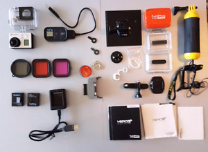 GoPro Hero3+ Black Edition with Accesories and Wifi Remote