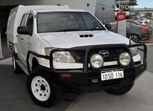 2011 Toyota Hilux  White Manual Utility Glendalough Stirling Area Preview