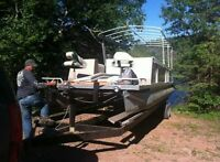 28 foot pontoon with trailer