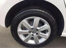 X4 Genuine Volkswagen Polo Alloys Wheel Set With Tyres