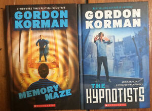 "GORDON KORMAN hardcovers ""THE HYPNOTIST"" books 1 & 2 for $10"
