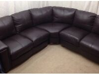 Dfs buffalo leather brown corner sofa excellent condition