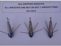 Dca breakaway grippers for sea fishing