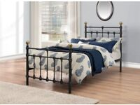Antique Style Brass Bed Frame King Size - cost £2000 new. Downsizing house