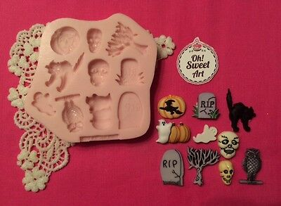 Halloween  Set Silicone Mold Food Safe  Cake Decoration toppers  Cupcake  (FDA)](Good Halloween Food)