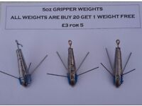 Sea fishing weights shore and boat available