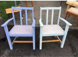 Pair of nice sized carver armchairs