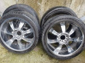 22 inch Crome rims with tires