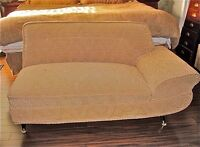 Asymmetrical settee/1950s love couch