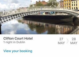 Accommodation for Dublin - 1 night 27th May 2017 2xpeople - Hotels nearly sold out for this date!