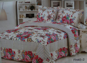 100% Cotton 3 Piece KING Size Quilt Sets-NOT Micro Fiber