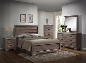 6PC QUEEN SIZE CREAM OAK BEDROOM SET $898