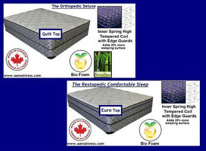 NEW DOUBLE MATTRESSES from $140 +Full BOXPRINGS $80. No Tax Sale London Ontario image 2