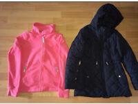 2 girls jackets 11-12 Years