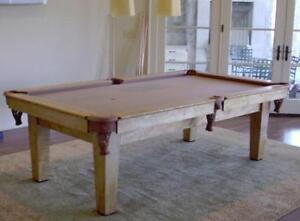 Custom Made Curly Maple Pool Table Make an offer!