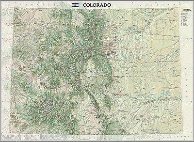 New National Geographic Colorado Co State Wall Map Standard Re01020399
