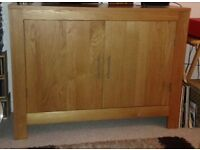 Solid oak sideboard and matching telephone table