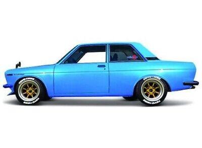 Candy Cars (1971 DATSUN 510 MATT CANDY BLUE 1/24 DIECAST MODEL CAR BY MAISTO)