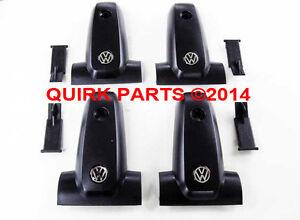 00 04 VW Volkswagen Jetta Golf Replacement Roof Rack End Caps Set Of 4 OEM