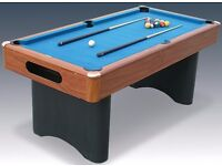 6ft RILEY Pool Table w/ Ball Return, Balls + Accessories