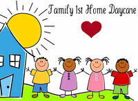 Family 1st Home Daycare - South London FT & PT Available