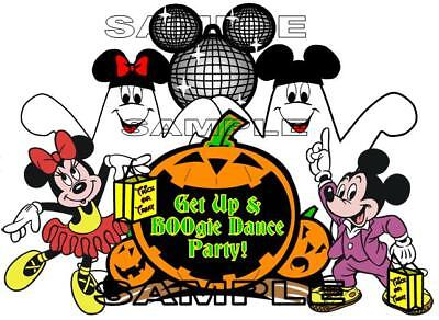 Disney Mickey's Not So Scary Halloween Dance Party Scrapbook Paper Die Cut Piece](Not So Scary Halloween Crafts)
