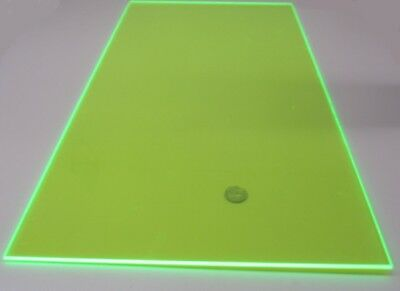 9093 Transparent Green Acrylic Sheet 18 Thick 12 X 24 2 Units