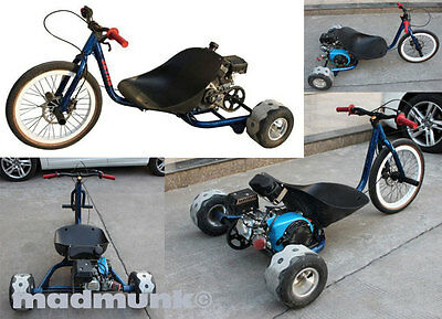 7.5hp four stroke petrol  3 wheel drift bike, pit bike. trike, new