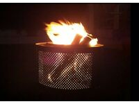 Up-cycled washing machine drums Ideal Fire Pit or BBQ, FREE GIFT