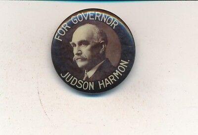 """1908 Judson Harmon for governor 1"""" cello Ohio OH campaign button"""