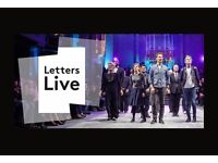 2x tickets LETTERS LIVE tonight (6th Oct)