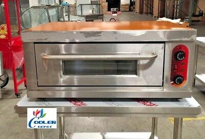 New Commercial Electric Pizza Oven Bakery Pizzeria W Stainless Steel Table 220v