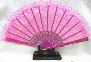 Beautiful Chinese Wing Chun Style Dancing Fun Folding Lace Hand Fan