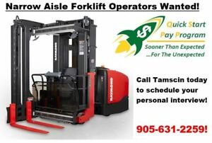 In-House Certified Narrow Aisle Forklift Operator